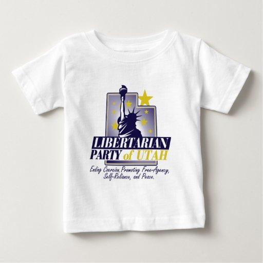 Logotipo libertario del fiesta de Utah Tee Shirts