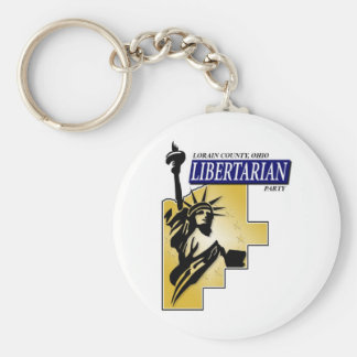 Logotipo libertario del fiesta del condado de Lora Llaveros