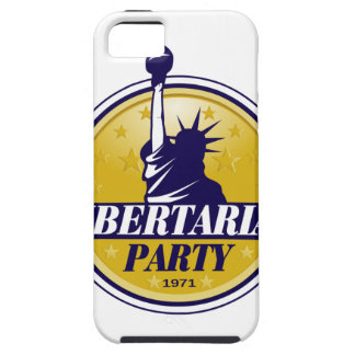 Logotipo libertario del fiesta iPhone 5 Case-Mate coberturas