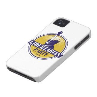 Logotipo libertario del fiesta Case-Mate iPhone 4 cárcasas