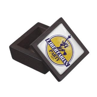 Logotipo libertario del fiesta político caja de regalo de calidad