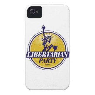Logotipo libertario del fiesta político iPhone 4 carcasa
