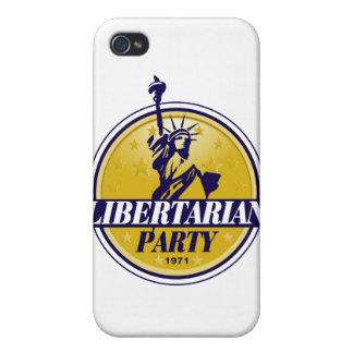Logotipo libertario del fiesta político iPhone 4 cárcasas