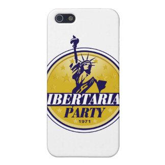 Logotipo libertario del fiesta político iPhone 5 carcasas