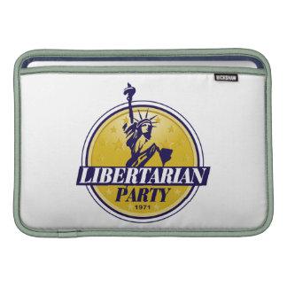 Logotipo libertario del fiesta político funda macbook air