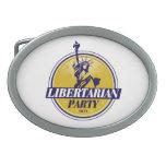 Logotipo libertario del fiesta político hebilla cinturón