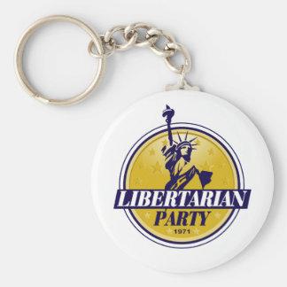 Logotipo libertario del fiesta político llaveros personalizados