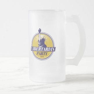 Logotipo libertario del fiesta - taza de cristal