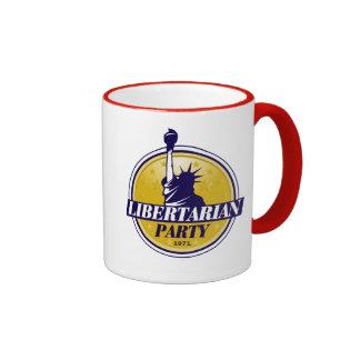 Logotipo libertario del fiesta - taza de dos colores