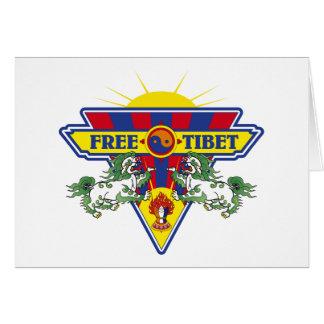Logotipo libre de la bandera de Tíbet Felicitación