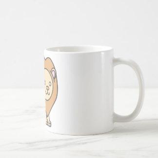 Logotipo lindo de encargo del dibujo animado del l tazas de café