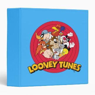 """Logotipo Looney del carácter de los tonos Carpeta 1 1/2"""""""