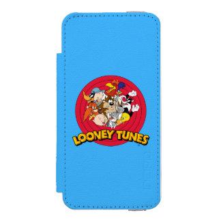 Logotipo Looney del carácter de los tonos Funda Billetera Para iPhone 5 Watson