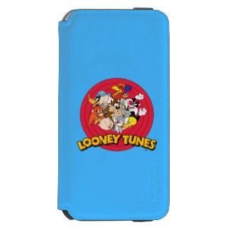 Logotipo Looney del carácter de los tonos Funda Billetera Para iPhone 6 Watson