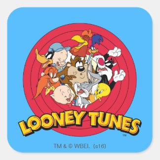 Logotipo Looney del carácter de los tonos Pegatina Cuadrada