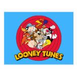 Logotipo Looney del carácter de los tonos Postal