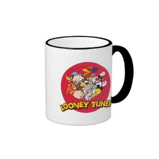 Logotipo Looney del carácter de los tonos Taza De Dos Colores