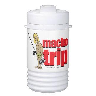 Logotipo machista refrigerador de 1 cuarto de refrigerador de bebida igloo