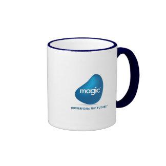 Logotipo mágico del software calificado productos taza a dos colores