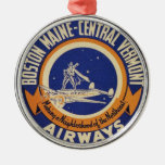 Logotipo Maine-Central de las vías aéreas de Bosto Ornatos
