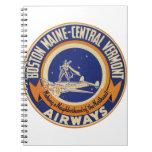 Logotipo Maine-Central de las vías aéreas de Bosto Cuaderno