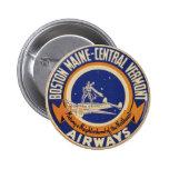 Logotipo Maine-Central de las vías aéreas de Bosto Pin Redondo 5 Cm