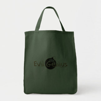Logotipo malvado del genio bolsas