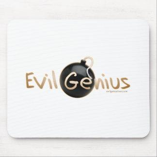 Logotipo malvado del genio tapete de ratón
