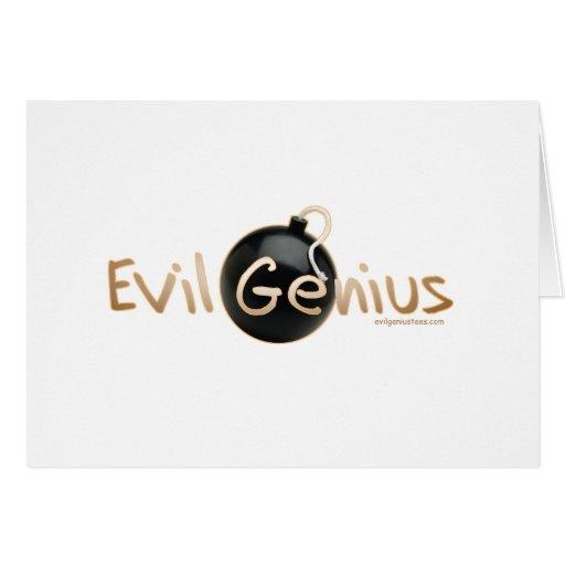 Logotipo malvado del genio tarjeta de felicitación