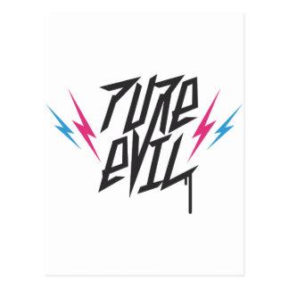 Logotipo malvado puro postal