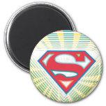 Logotipo maravilloso de Supergirl Imán Redondo 5 Cm