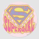 Logotipo maravilloso de Supergirl Pegatinas Redondas