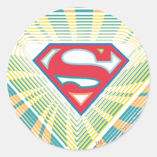Logotipo maravilloso de Supergirl Pegatina Redonda