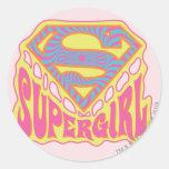 Logotipo maravilloso de Supergirl Pegatinas