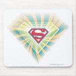 Logotipo maravilloso de Supergirl Tapete De Ratones