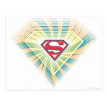 Logotipo maravilloso de Supergirl Tarjetas Postales