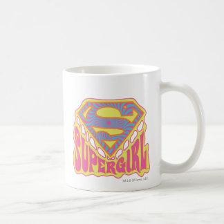 Logotipo maravilloso de Supergirl Taza De Café