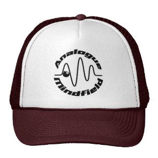 Logotipo marrón y blanco del camionero w/Analogue  Gorra