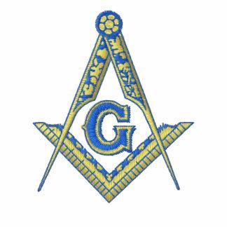 Logotipo masónico con nombre personalizado polo bordado