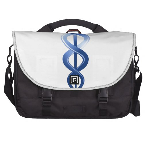 Logotipo médico del caduceo del símbolo bolsas de portatil