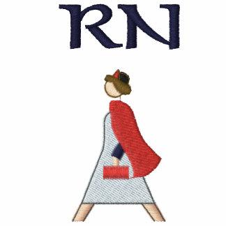 Logotipo médico retro de la enfermera registradoa sudadera con serigrafía