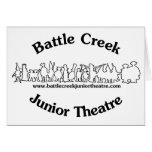 Logotipo menor del teatro de Battle Creek (negro) Tarjetón