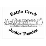 Logotipo menor del teatro de Battle Creek (negro) Tarjeta Postal