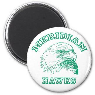Logotipo meridiano iman de frigorífico