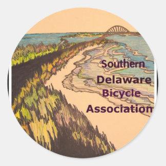 Logotipo meridional de la asociación de la pegatina redonda