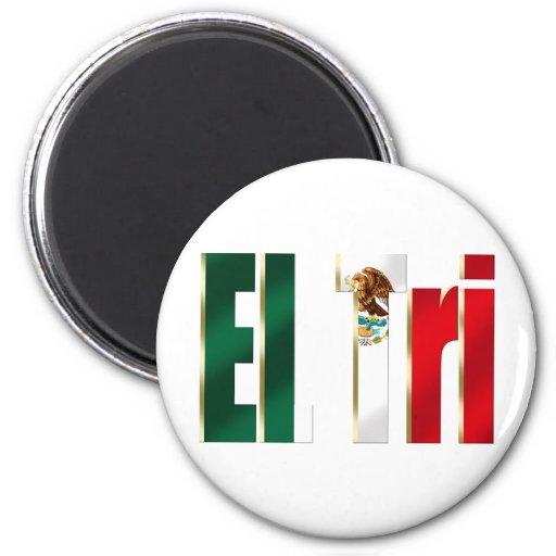Logotipo mexicano del orgullo del tri México futbo Iman De Frigorífico