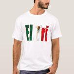 Logotipo mexicano del orgullo del tri México Playera