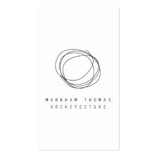 Logotipo mínimo y moderno del garabato del diseñad tarjetas de visita