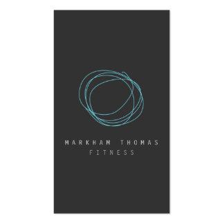 Logotipo mínimo y moderno del garabato del tarjetas de visita