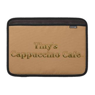 Logotipo minúsculo del café del Cappuccino Fundas MacBook
